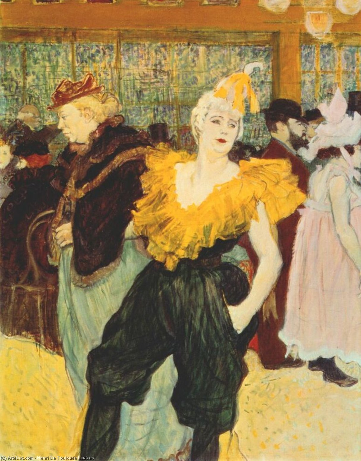 the clownesse cha-u-kao at the moulin rouge, 1895 by Henri De Toulouse Lautrec (1864-1901, France) | ArtsDot.com
