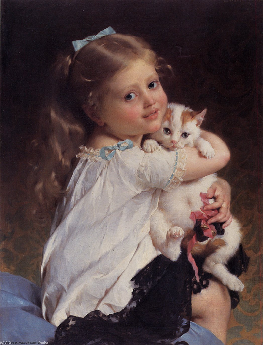 her best friend, 1882 by Emile Munier (1840-1895, France)