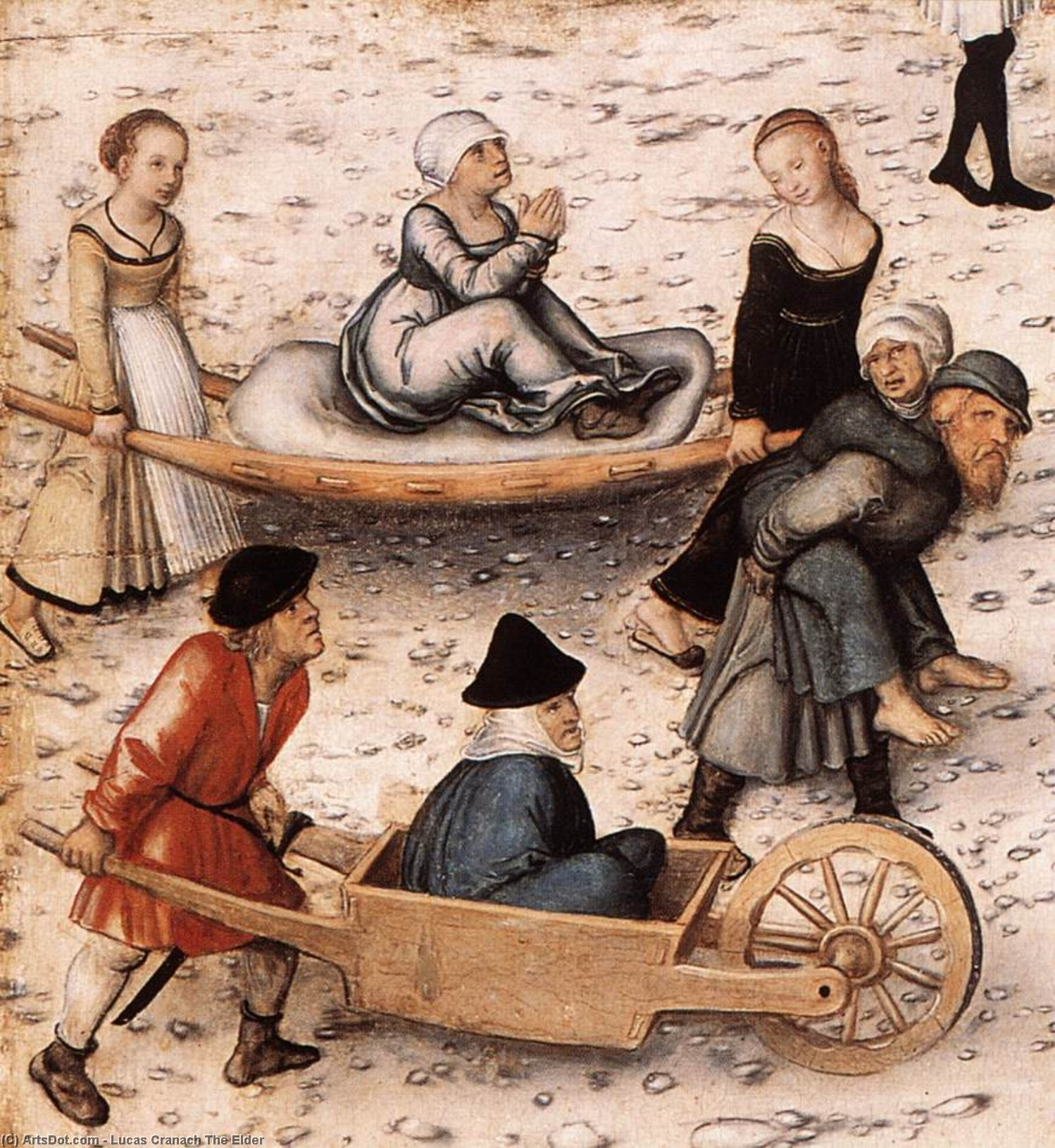 Fountain of Youth (detail)2 by Lucas Cranach The Elder (1472-1553, Germany)
