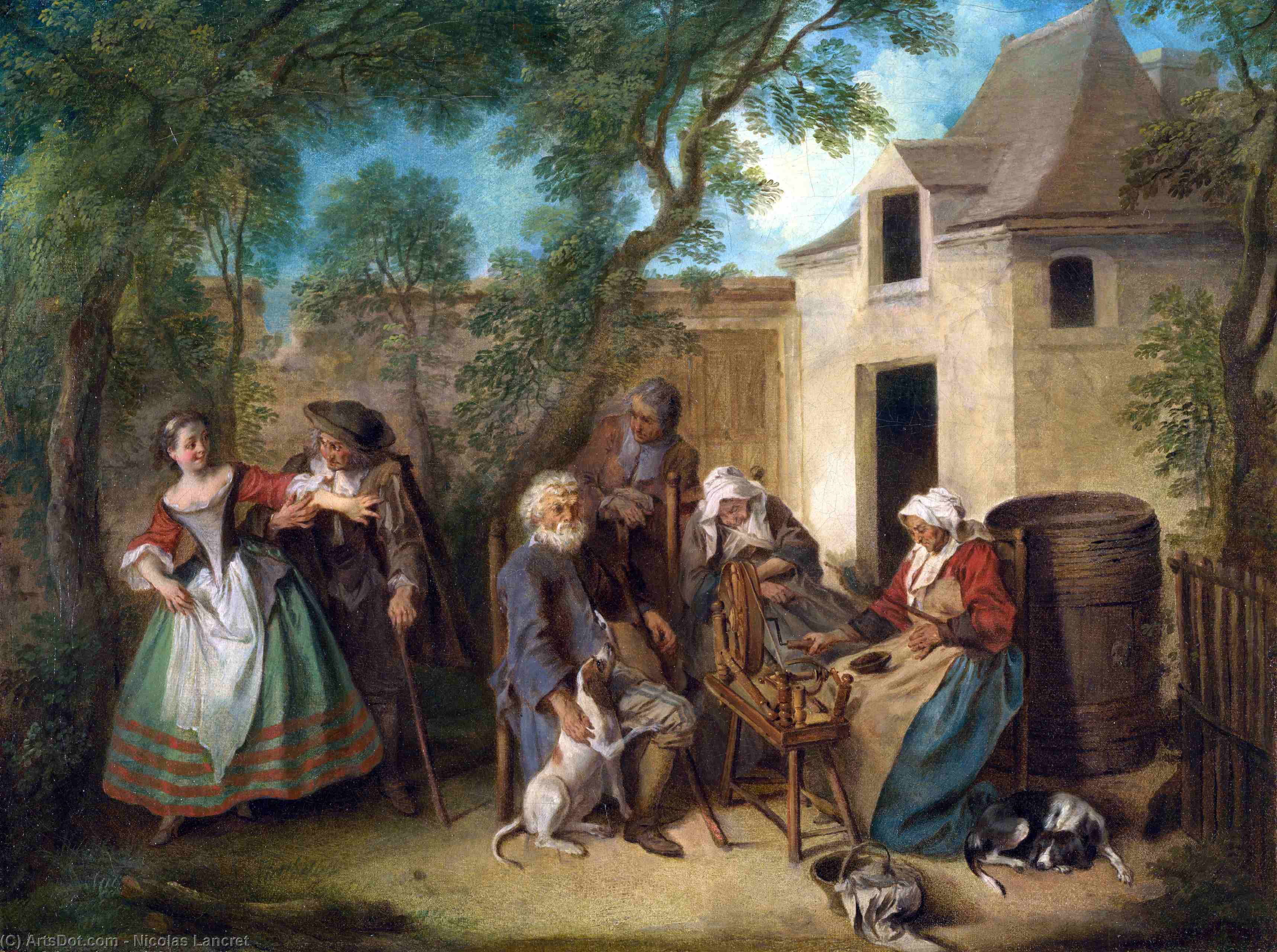 The Four Ages of Man - Old Age by Nicolas Lancret (1690-1743, France)