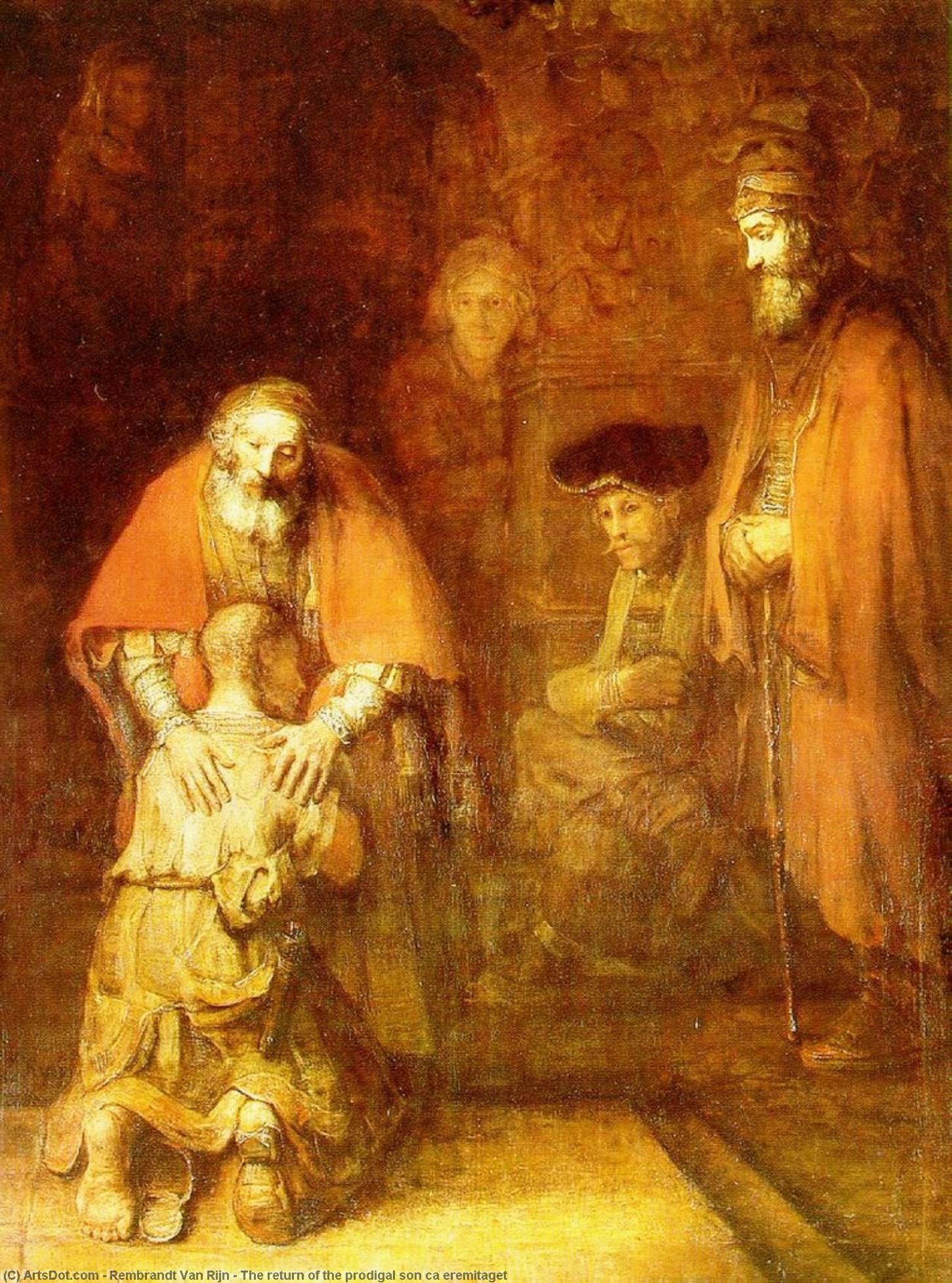 Order Art Reproductions | The return of the prodigal son ca eremitaget, 1662 by Rembrandt Van Rijn (1606-1669, Netherlands) | ArtsDot.com