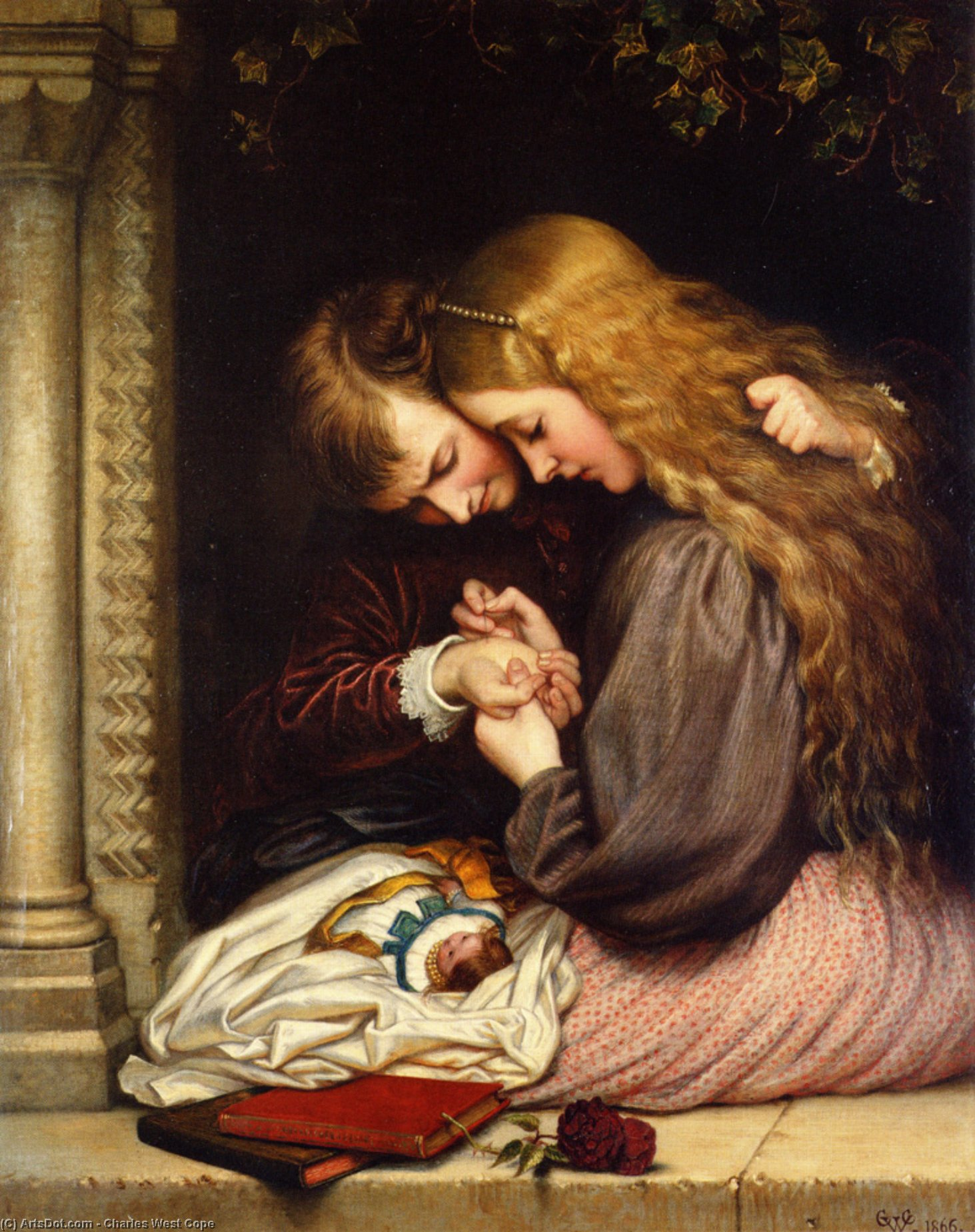 The thorn, 1866 by Charles West Cope (1811-1890, United Kingdom) | ArtsDot.com