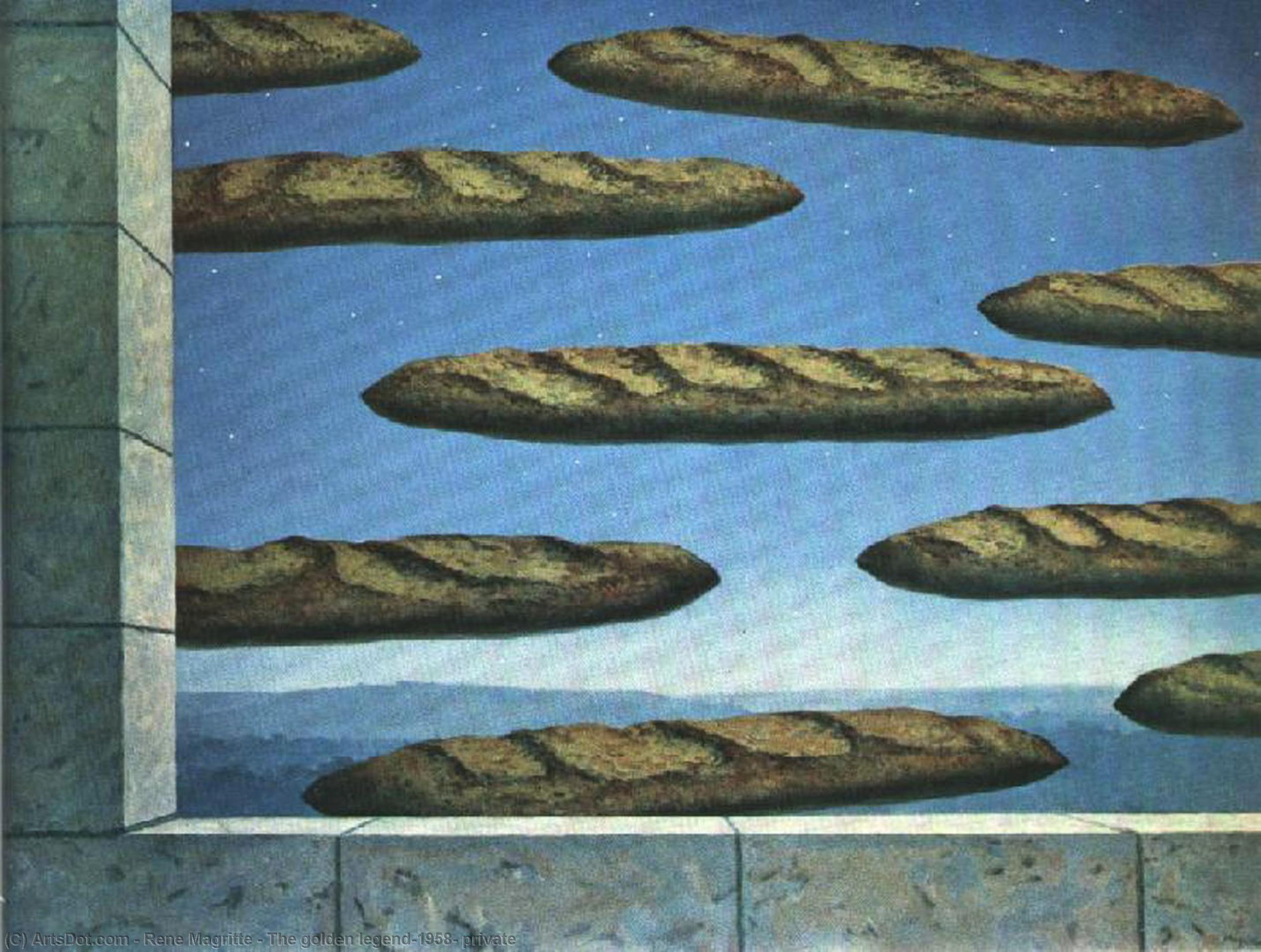 The golden legend,1958, private by Rene Magritte (1898-1967, Belgium)