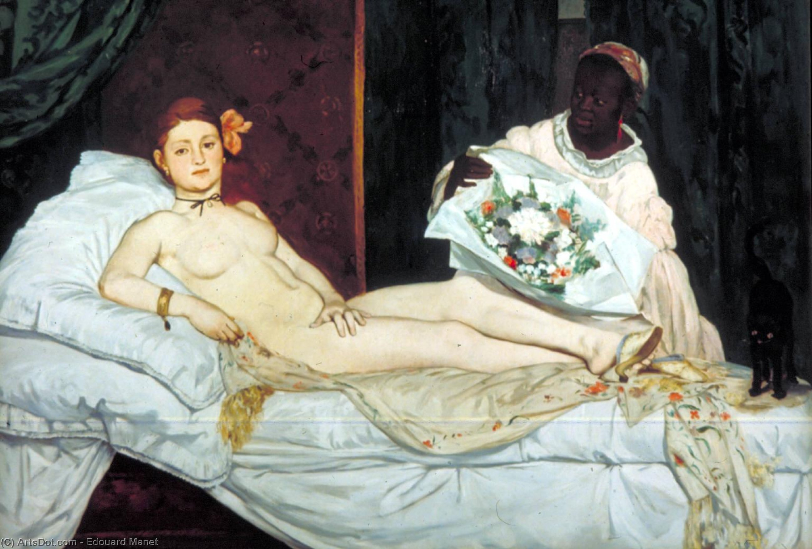 Order Art Reproduction : Olympia, Musee d`Orsay, Paris, 1863 by Edouard Manet (1832-1883, France) | ArtsDot.com