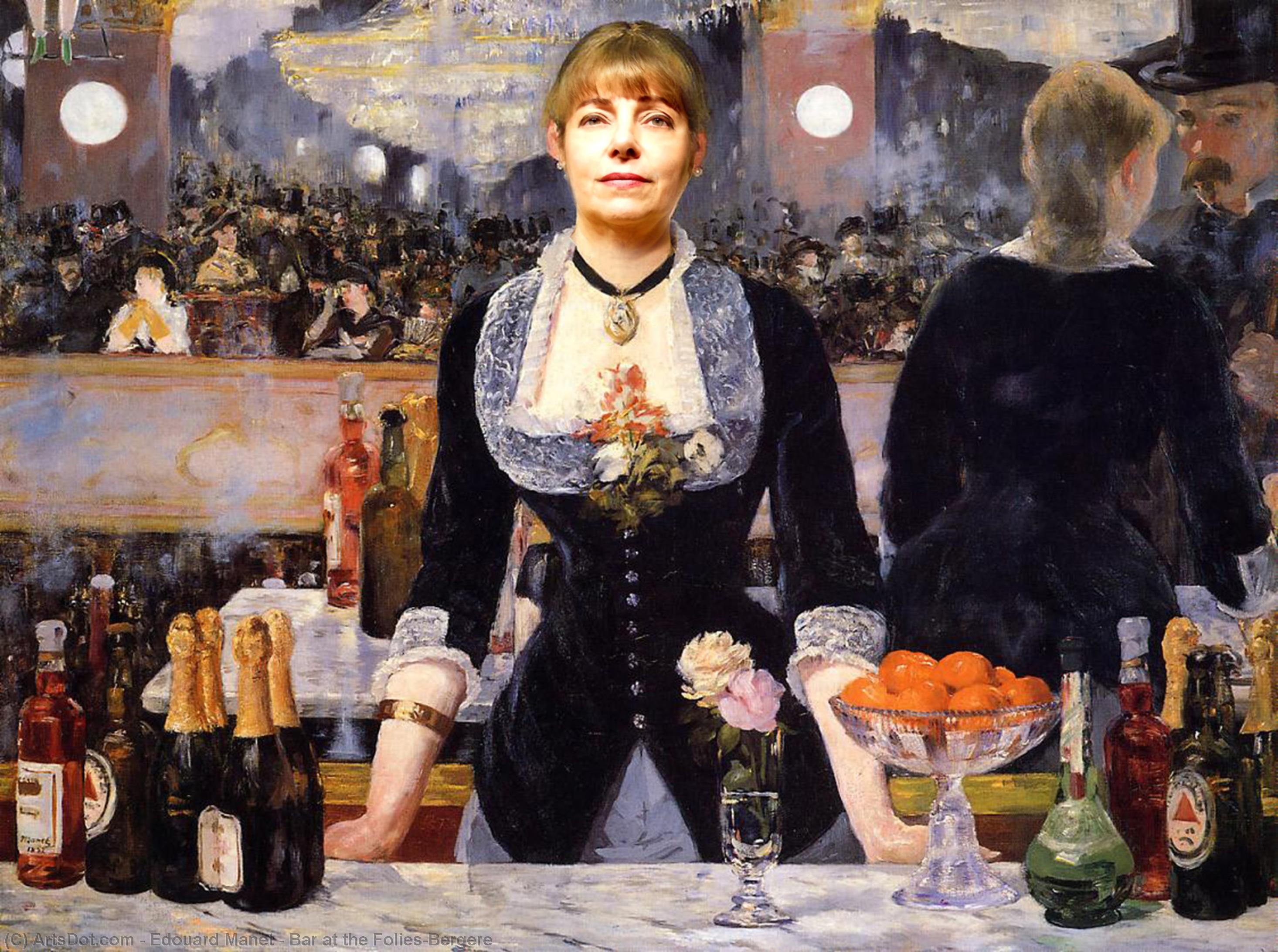 Buy Museum Art Reproductions | Bar at the Folies-Bergere by Edouard Manet (1832-1883, France) | ArtsDot.com