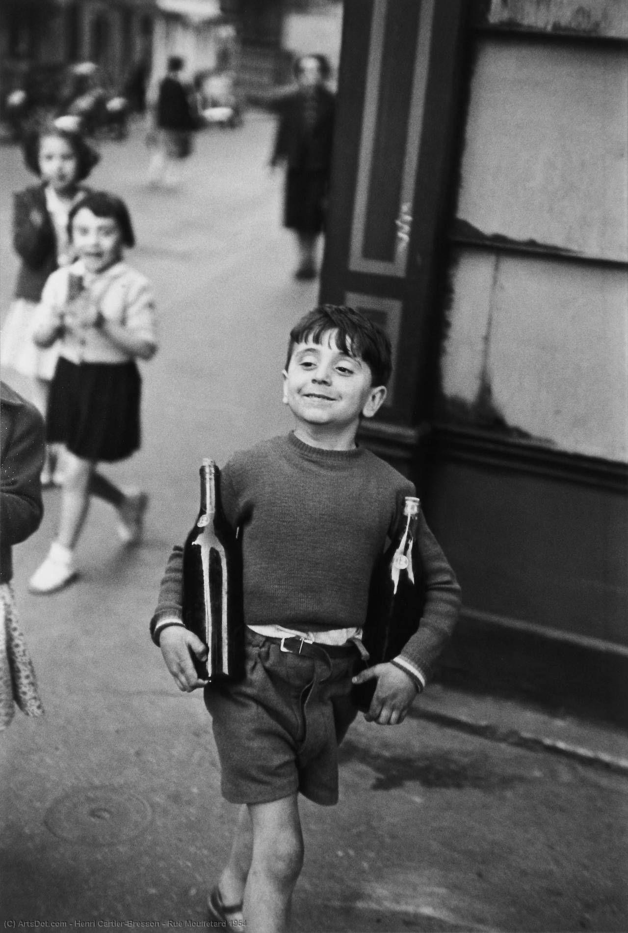 Rue Mouffetard 1954 by Henri Cartier-Bresson (1908-2004, France) | Museum Quality Reproductions | ArtsDot.com
