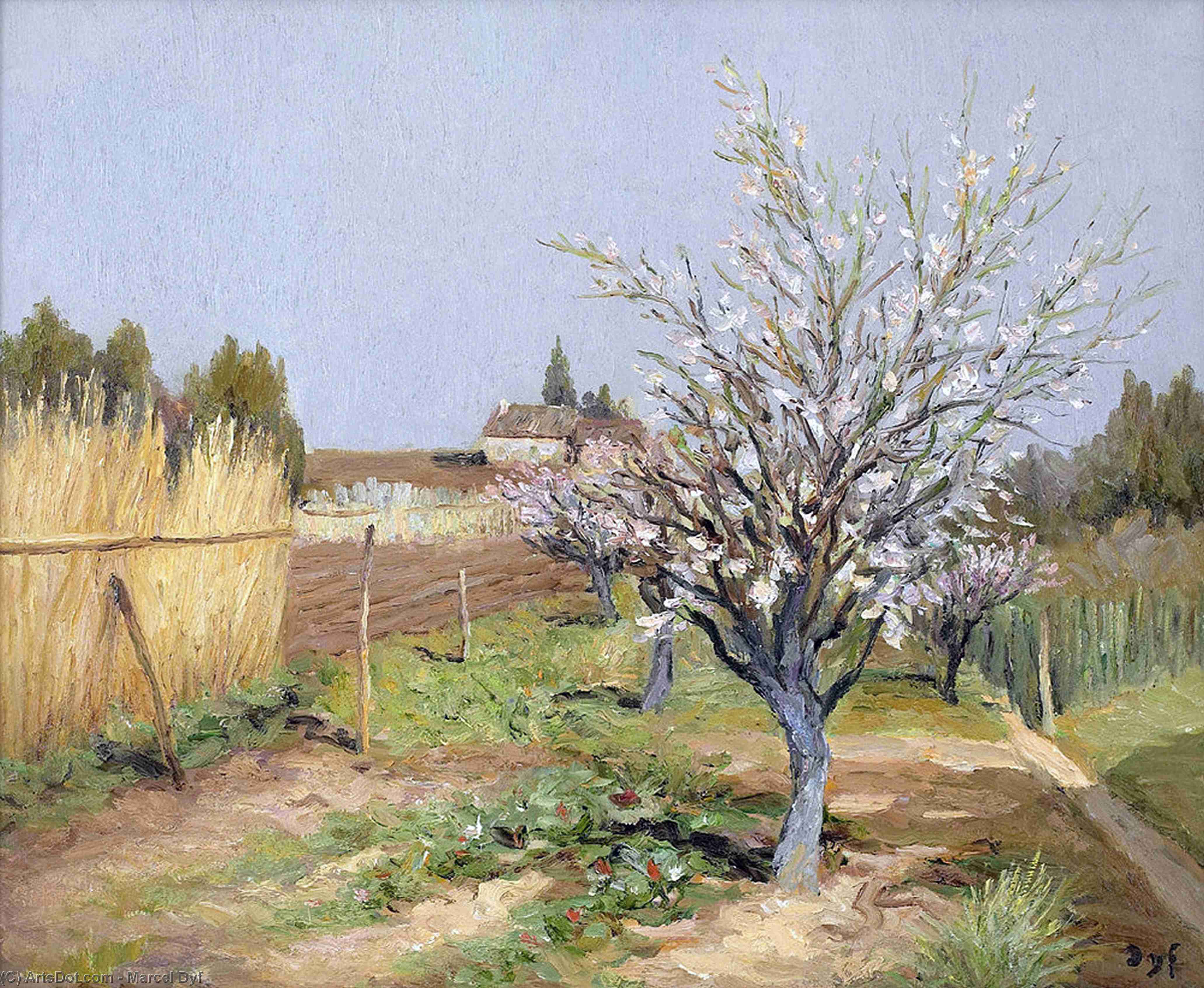 Orchard in Bloom by Marcel Dyf (1899-1985, France)