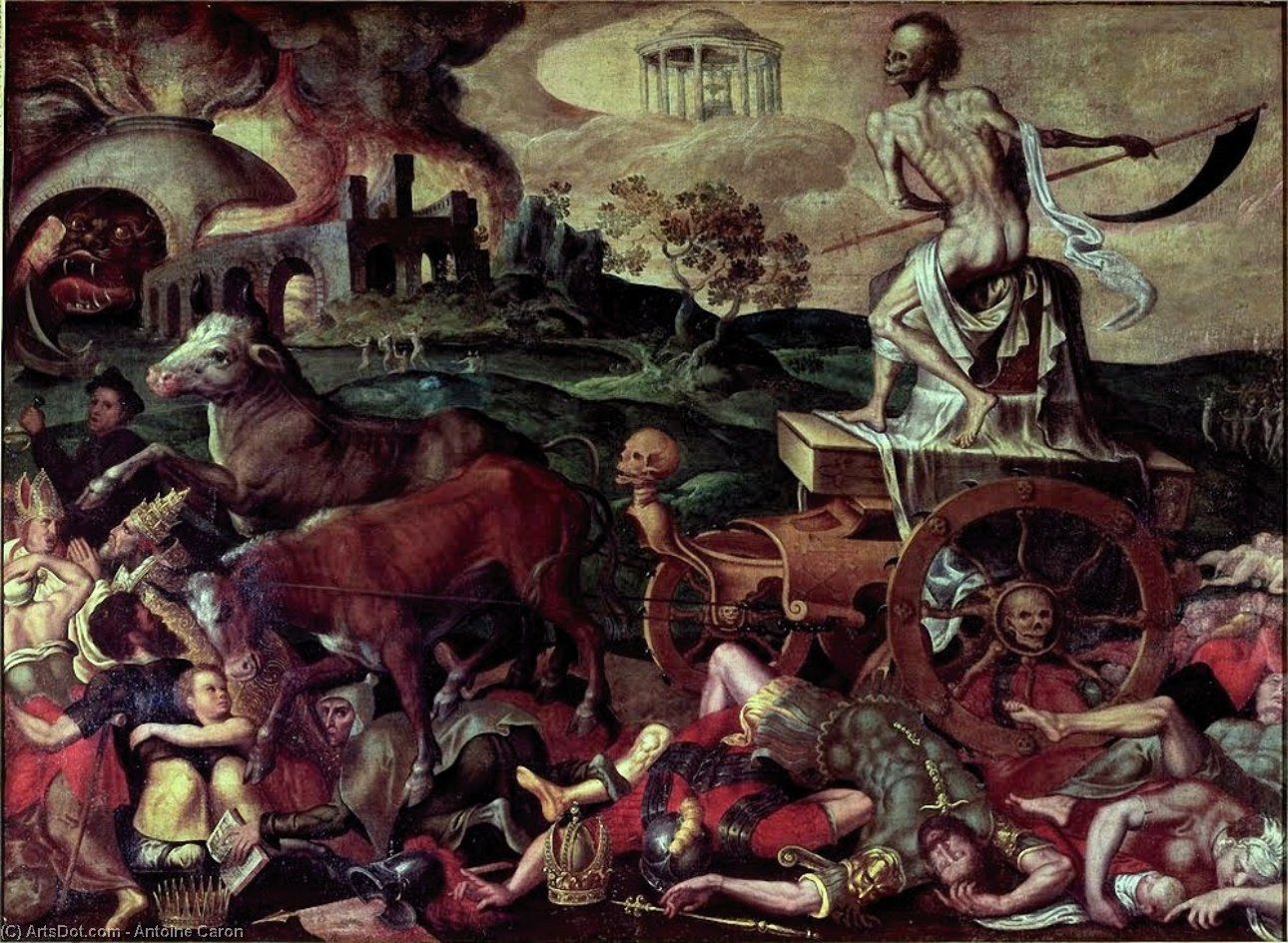 Triumph of death antoine caron by Antoine Caron (1521-1599, France)