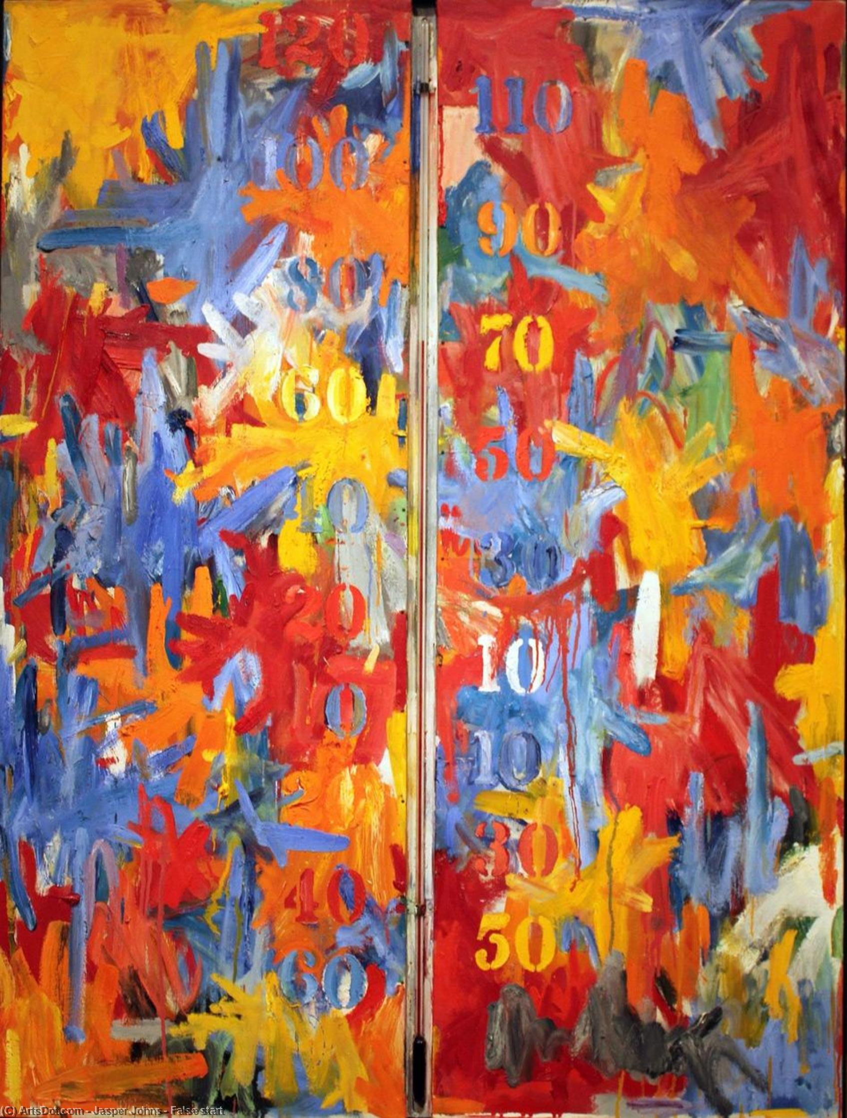 False start by Jasper Johns | Museum Art Reproductions | ArtsDot.com