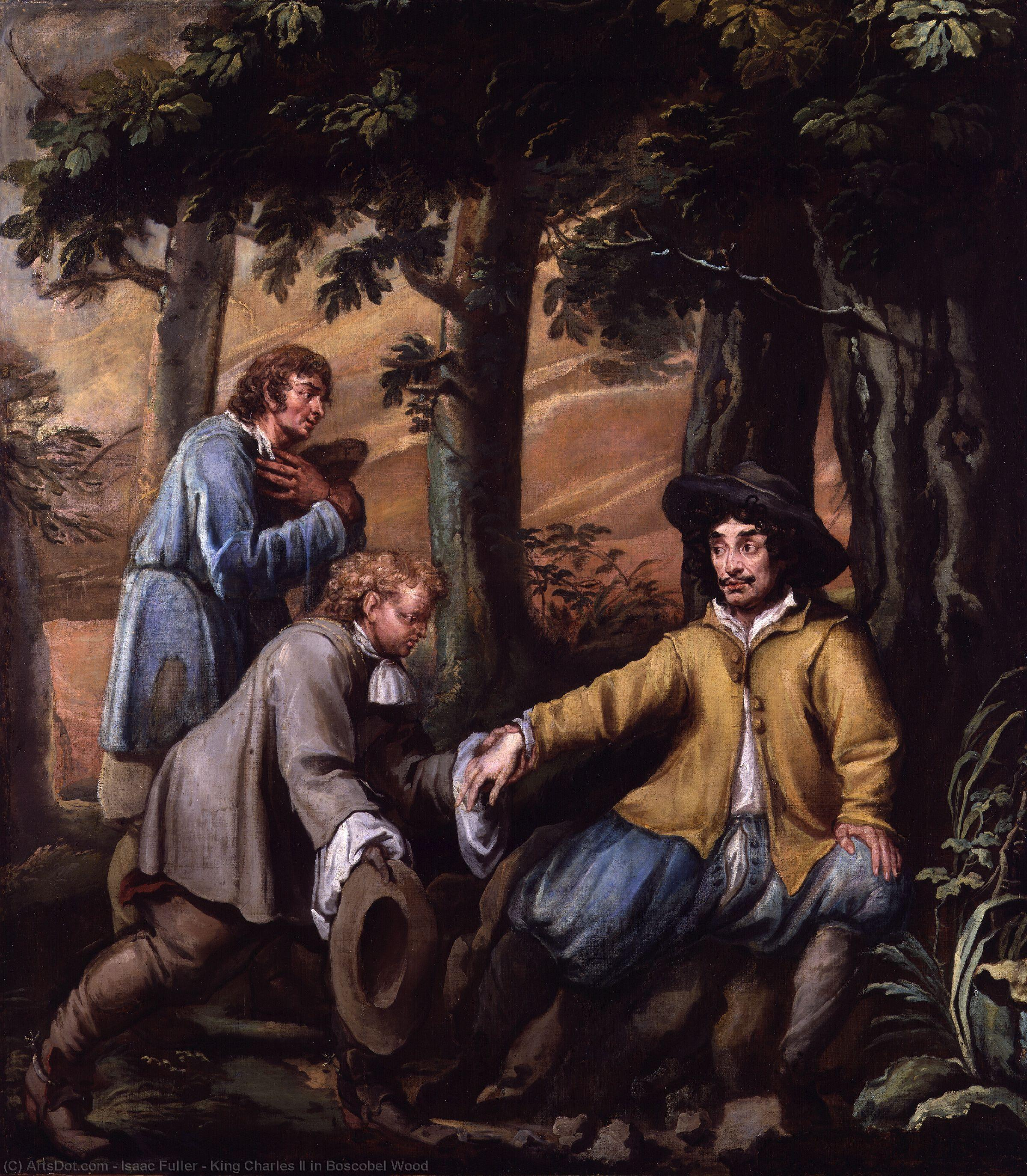King Charles II in Boscobel Wood, 1660 by Isaac Fuller | Museum Art Reproductions | ArtsDot.com