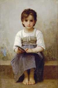 William Adolphe Bouguereau - The hard lesson