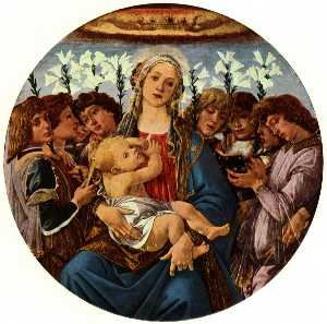 Sandro Botticelli - Madonna and Child with Eight Angel
