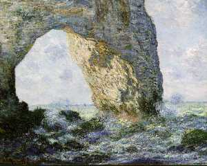 Claude Monet - Rock Arch West of Etretat (The Manneport) (1