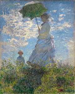 Claude Monet - The Walk. Lady with a Par..