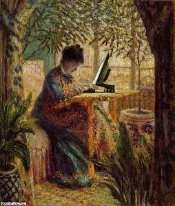 Claude Monet - Madame Monet Embroidering