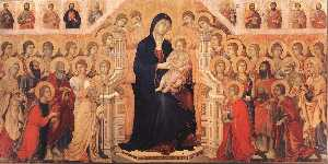 Duccio Di Buoninsegna - MaestÓ (front, central panel)