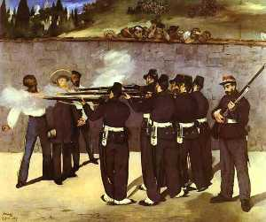Edouard Manet - The Execution of the Emperor Maximilian of Mexico