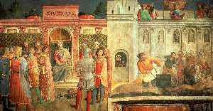 Fra Angelico - St. Lawrence before St. Valerianus and Martyrdom of St. Lawrence
