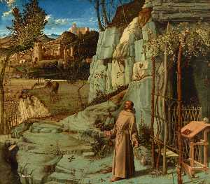 Giovanni Bellini - St. Francis in the Wilder..