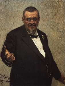 Ilya Yefimovich Repin - Portrait of the Lawyer Vl..