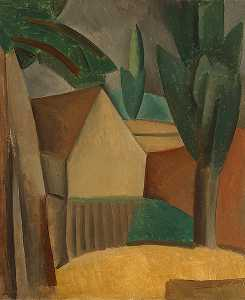 Pablo Picasso - House in a Garden