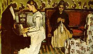 Paul Cezanne - Girl at the Piano