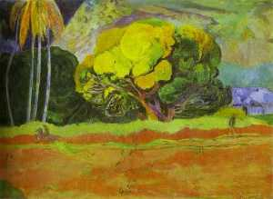 Paul Gauguin - At the Foot of a Mountain