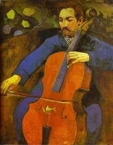 Paul Gauguin - The Cellist (Portrait of ..