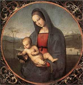 Raphael (Raffaello Sanzio Da Urbino) - Madonna with the Book (Connestabile Madonna)