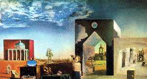 Salvador Dali - Suburbs of a Paranoiac-Critical Town, Afternoon on the Outskirts of European History