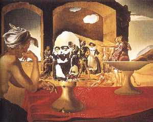 Salvador Dali - Slave Market with the Disappearing Bust of Voltaire, 1940