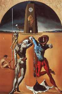 Salvador Dali - The Poetry of America (unfinished), 1943