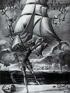Salvador Dali - Victory - Woman Metamorphosing into a Boat with Angels, 1945