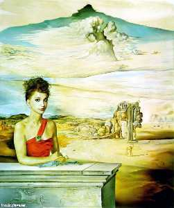 Salvador Dali - Portrait of Mrs. Jack Warner, 1951