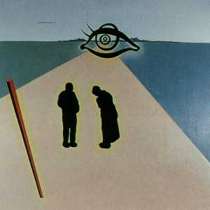 Salvador Dali - The Eye of the Angelus (stereoscopic work, left component, unfinished), 1978