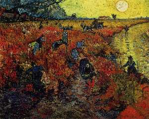 Vincent Van Gogh - The Red Vineyard [1888]