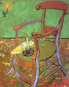 Vincent Van Gogh - Gauguin-s Chair with Books and Candle - 1888 - Rijksmuseum Vincent van Gogh, Amsterdam