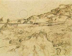 Vincent Van Gogh - Enclosed Wheat Field with Reaper