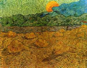 Vincent Van Gogh - Evening Landscape with Rising Moon