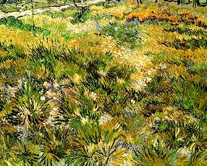Vincent Van Gogh - Meadow in the Garden of Saint-Paul Hospital