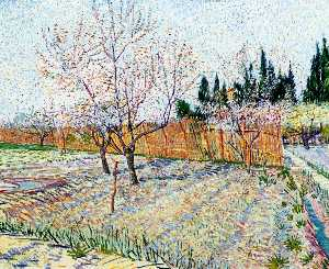 Vincent Van Gogh - Orchard with Peach Trees in Blossom