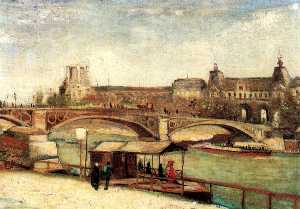 Vincent Van Gogh - Pont du Carrousel and the Louvre, The