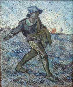 Vincent Van Gogh - Sower, The after Millet 2