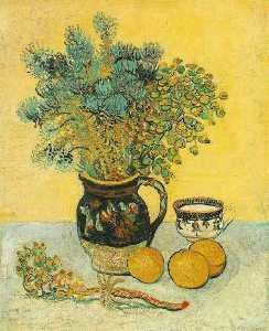 Vincent Van Gogh - Still Life Majolica Jug with Wildflowers