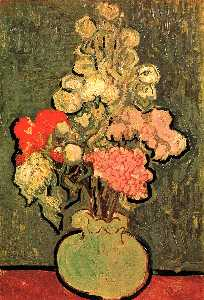 Vincent Van Gogh - Still Life Vase with Rose-Mallows
