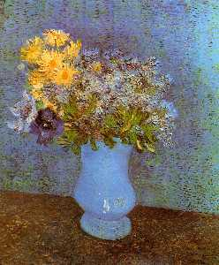 Vincent Van Gogh - Vase with Lilacs, Daisies and Anemones