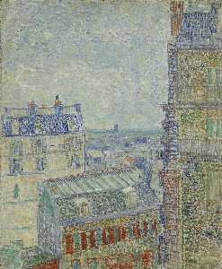 Vincent Van Gogh - View of Paris from Vincent-s Room in the Rue Lepic