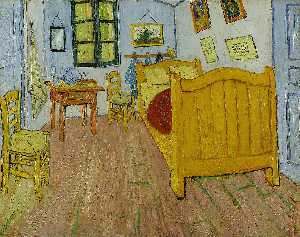 Vincent Van Gogh - Vincent-s Bedroom in Arles (First version)