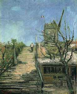 Vincent Van Gogh - Windmill on Montmartre