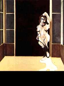 Francis Bacon - female nude standing in a doorway 1972